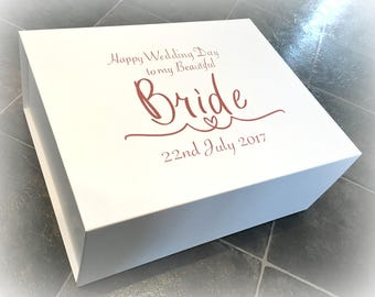 Extra Large Bride Gift Box | Wedding Morning Bride Box | Beautiful Bride | Personalised Bride Box | Wife To Be