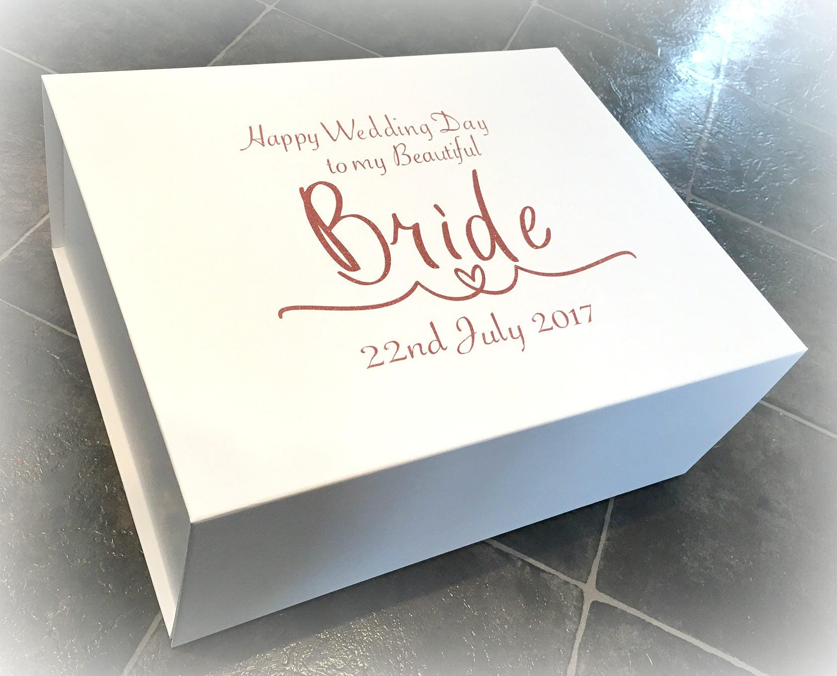 Wedding Planning Gift For Bride: Luxury Extra Large Bride Gift Box Wedding Morning Bride Box