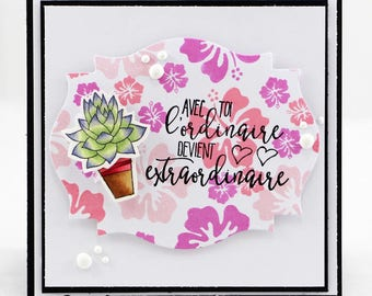 Cactus With you something ordinary becomes extraordinary card