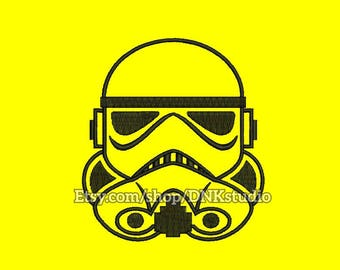 Trooper Stormtrooper Star Wars Embroidery Design - 6 Sizes - INSTANT DOWNLOAD