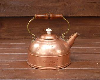 Revere Ware Copper Kettle, Vintage Copper Tea Kettle,  Copper Tea Pot