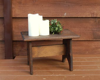 Wood Bench, Vintage Wooden Step Stool, Wooden Kit Bench