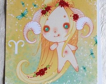 Postcard astrological sign