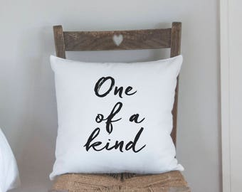One Of a Kind Cushion, Black Printed Sofa Cushion, Printed Pillow (OHSO936) 31B3