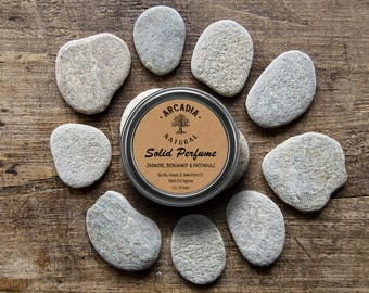 Jasmine, Bergamot & Patchouli Solid perfume in a Travel Tin, Gifts For Her, Travel size perfume, Vegan and alcohol free