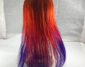 Sunrise Human Hair DOLL BJD Wig 10in Long, Size 5-7