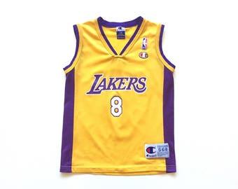 60ff8c03c ... 90s Kobe Bryant jersey Los Angeles 8 bryant nba basketball champion  jersey size 6 ...