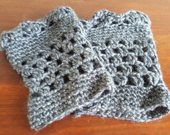 Crocheted Ladies Boot Cuffs, Small