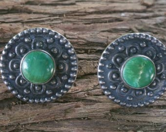 Old vintage sterling screw back earrings