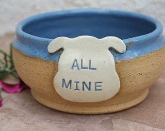 Dog Bowl handmade ceramic dog food bowl pet dish gift for dogs pet bowl unique pottery dogs feeding bowl fun gift for dog lover pet supplies