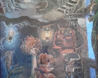 Vintage Mr Moles proposal dufex foil print by Janet and Anne Grahame Johnstone