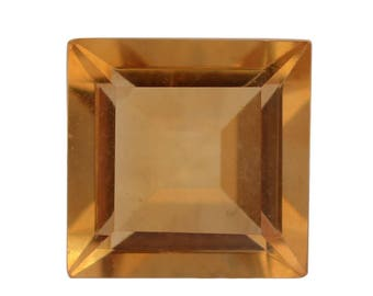 Citrine Square Cut Loose Gemstone 1A Quality 7mm TGW 1.25 cts.