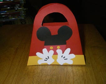12 Mickey Mouse fiesta party treat bags 5 in. x 5 in.