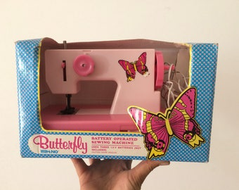 Vintage toy sewing machine Butterfly