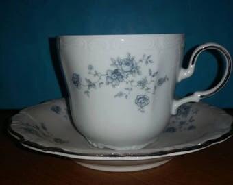 Johann Haviland Blue Garland Cup and Saucer