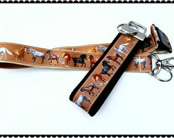 Wild Horses themed Badge holder, Lanyard, or Keychain, Great Gift for Horse Lovers, Gift for her