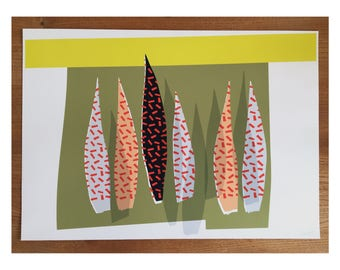 Giclee Print 'Palm leaves'