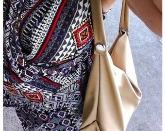 Tan Hobo bag small size faux leather Tan hobo faux leather hobo bag