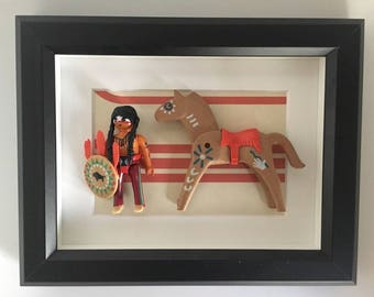 Indian hand made unique playmobil frame