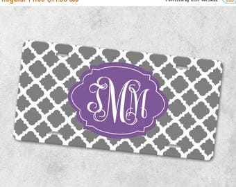 SALE - Monogram License Plate - Front Car Tag - Personalized License Plate - Front License Plate - Metal Car Tag - New Driver Gift - Quatref