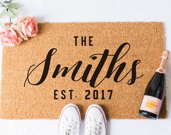 Custom Doormat - The Last Name Doormat - Personalized Welcome Mat - Personalized Door Mat - Bridal Shower Gift - Newlyweds - Wedding