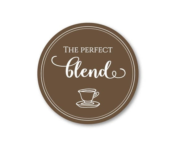 100 CT Wedding The Perfect Blend Favor Stickers. Wedding Favor Stickers for Coffee, Thank You Stickers, Premium Vinyl Party Favor Stickers …