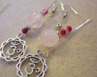 BO Zen Yoga KIT * Chakra and Fleur SAHASRARA Rose * silver plated hooks