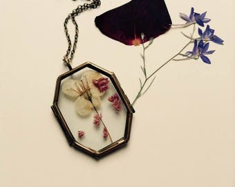 Necklace Locket Horcrux with flowers