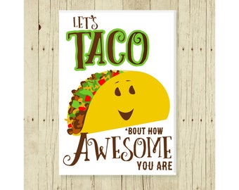 Taco Magnet, Funny Magent, Refrigerator Magnet, Pun, Cute Fridge Magnet, Gifts Under 10, Small Gift, Funny Pun, Thank You Gift Magnet