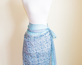 Delicate Light Blue Handmade Sarong