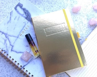 Gold Feminist Manifesto Notebook