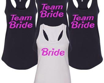 Bachelorette Set BARBIE BRIDE TANKS