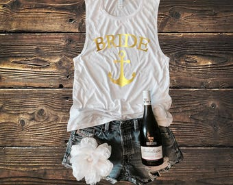 Bride Anchor Tank Muscle Tank