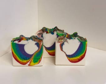 Rainbow Connection Soap/ Artisan Soap / Handmade Soap / Soap / Cold Process Soap