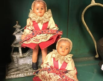 Vintage Rubber European Souvenier Dolls