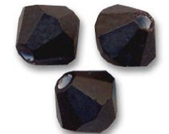 20 Swarovski bicones 4mm Jet Swarovski Crystal