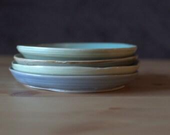Handmade, Wheel Thrown, Porcelain Plates | Mix & Matchy Plates