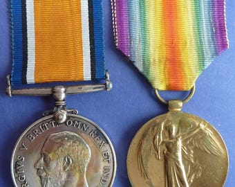 British World War 1 Medal Pair To Sailor In Royal Naval Volunteer Reserve.