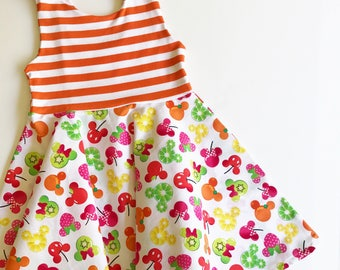 Fruity Disney twirly dress