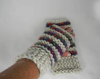 Wrist Warmers, Fingerless Gloves, Fingerless Mittens, Texting Gloves, Hand Knit Wrist Warmer, Hand Knit Fingerless Gloves, Gauntlets