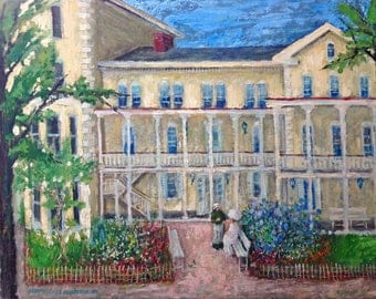 Historic House, Wilkinsburg, Pittsburgh, PA; painting by Ray Sokolowski. Prints in 3 Sizes.