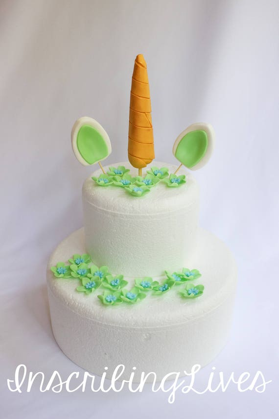 edible horn and ears cake topper mint green Unicorn cake