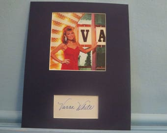 Pat Sajack & Vanna White - Wheel of Fortune and the autograph of Vanna White
