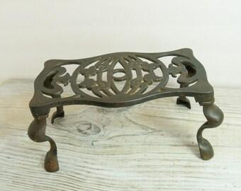 Antique 19th Century Pressing Iron Trivet - Cast Iron Trivet - Vintage Hand Forged Trivet - Rd No 439429 - 1910s