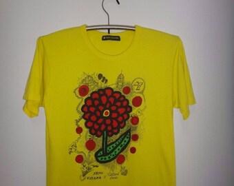 24 Hour Television Yayoi Kusama x Satoshi Ohno Japanese Pop Art Celebrity Actor Printing Fashion Writing collage Andy Warhol T Shirt