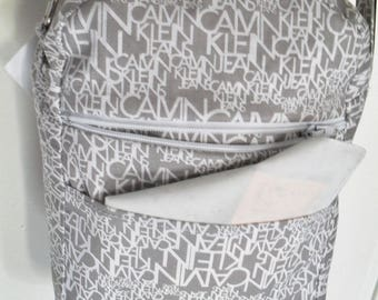 printed fabric bag, lined with cotton