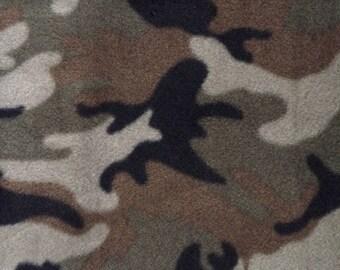 Fabric by the 1/2 Yard - Camouflage Fleece