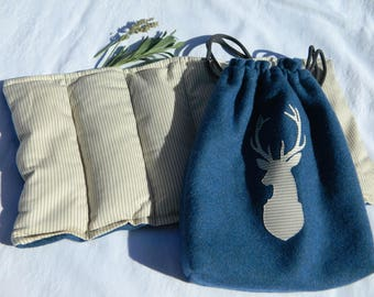 Heating pad in attractive storage pouch
