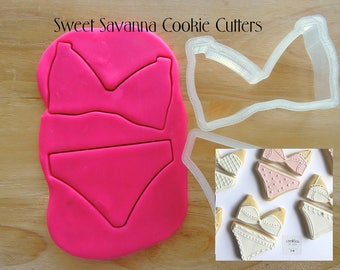 Underwear Cookie Cutter Set - Bra Cookie Cutters, Swimwear, Bikini Cookie Cutters