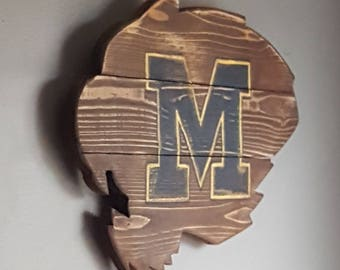 Mizzou Reclaimed Wood Sign University Of Missouri MU Tigers Pallet